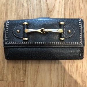 Gucci Long Black Wallet w/ Gold Hardware